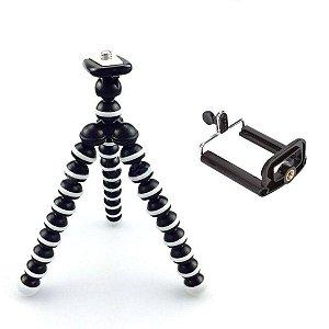 Mini Tripé Flexível Câmeras E Celulares Suporte Universal