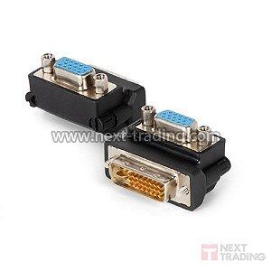 Conector adaptador DVI-D(24+5)M / VGA F 90º