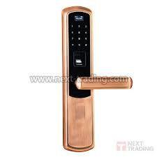 Fechadura Biométrica E Digital 3 em 1 bloqueio eletrônico Dourada