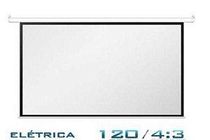 """Tela De Projeção Elétrica 120"""" - 4:3 220V com Controle Fixo"""