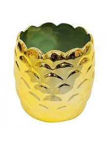 Abacaxi Porcelana Porta Objetos Amarelo