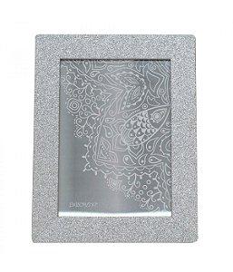 Porta-Retrato 15x20cm Moldura Prateada com Purpurina