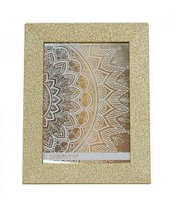 Porta-Retrato 13x18cm Moldura Dourada Purpurina