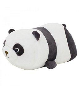 Almofada Formato Panda Pelúcia 33cm