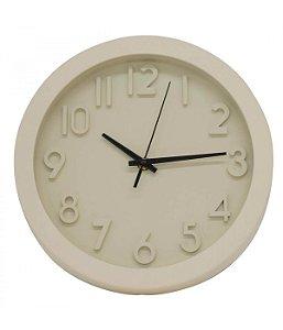 Relógio De Parede Branco 25x25cm