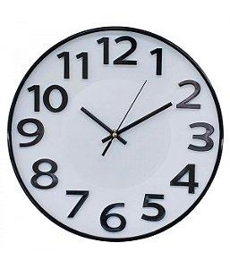 Relógio De Parede Braco Numeração Preta Arábica 29.5x29.5cm