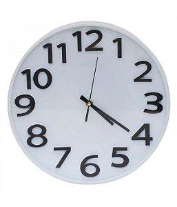 Relógio De Parede Preto Numeração Arábica 29.5x29.5cm