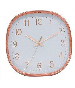 Relógio De Parede Rose Semi Arredondado 29.5x29.5cm Estiloso