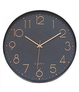 Relógio De Parede Preto 35x35cm