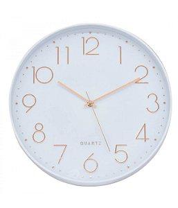 Relógio De Parede Branco 35x35cm