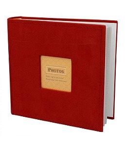 Álbum 200 Fotos Vermelho10x15cm Memo