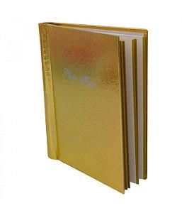 Álbum de Fotos Dourado 20 folhas