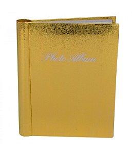 Álbum de Fotos Dourado 20 folhas Tamanhos variados