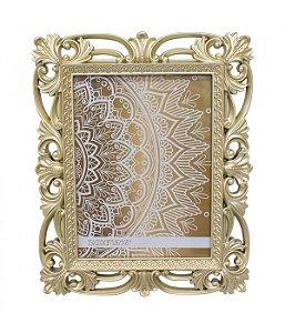 Porta-Retrato 15x20cm Moldura Dourada Estilo Europeu