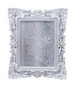Porta-Retrato 15x20cm Moldura Prateada Estilo Europeu