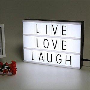 Luminária Palavras Letras Light Box Letreiro
