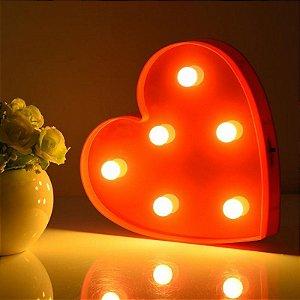 Luminária Abajour de Coração