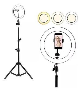 "Kit Ring Light 36cm (16"") com Tripé"