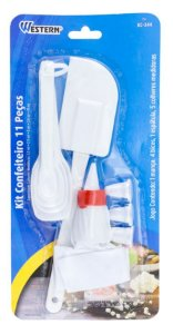 Kit Confeiteiro 11 Peças Branco