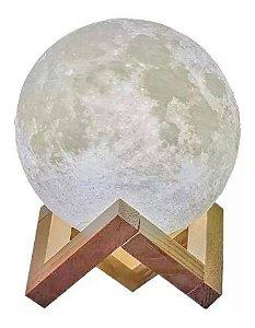 Luminária Lua Cheia 3d Abajur