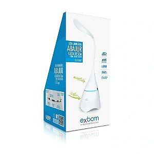 Caixa De Som Bluetooth Com Abajur / Luminária Em Led Exbom