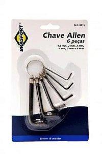 Jogo De Chaves Allen Com 6 Peças