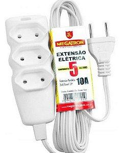 Extensão Elétrica 2p 10a - 5 Metros - Megatron