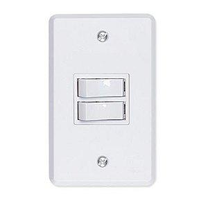 Interruptor 2 Teclas Simples Ilumi