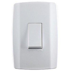 Conjunto 1 Interruptor Simples Vertical - Ilumi
