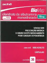 SIBUTRAMINA 15 MG - BIOMAG CAIXA COM 30 CÁPSULAS FABRICANTE: ACHE