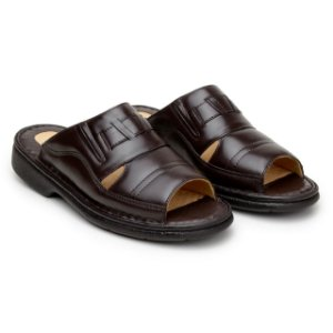 Sandália Masculina Anti Stress Comfort Shoes - Ref.203 Café