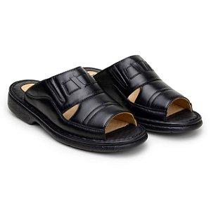 Sandália Masculina Anti Stress Comfort Shoes - Ref.203 Preta