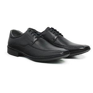 Sapato Social Masculino De Couro Urano Preto - Ref. 45501