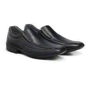 Sapato Social Masculino De Couro Urano Preto - Ref. 45502