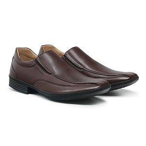 Sapato Social Masculino De Couro Urano Dark Brown - Ref. 45502