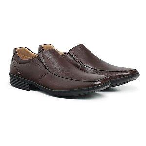 Sapato Social Masculino De Couro Air Tech Dark Brown - Ref. 45504