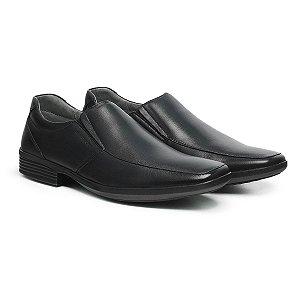 Sapato Social Masculino De Couro Air Tech Preto - Ref. 45504