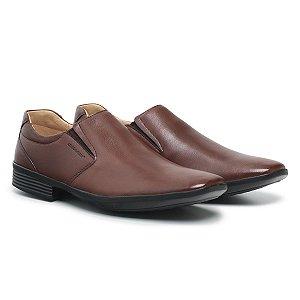 Sapato Social Masculino De Couro Air Tech Café - Ref. 45505