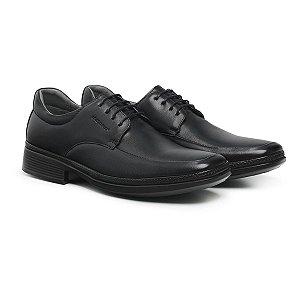 Sapato Social Masculino De Couro Air Tech Preto - Ref. 45904