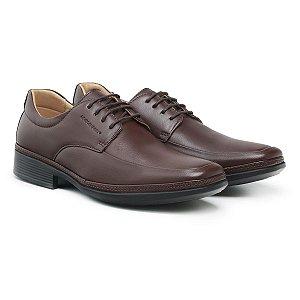 Sapato Social Masculino De Couro Air Tech Dark Brown - Ref. 45904