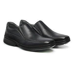 Sapato Social Masculino De Couro Ultra Comfort Preto - Ref. 46101