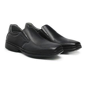 Sapato Social Masculino De Couro Ultra Comfort Preto - Ref. 46102