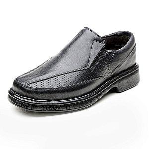 Sapato Masculino De Couro Legítimo 6027 Preto - Super Liquidação