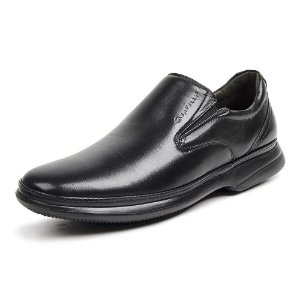 Sapato Social Masculino Savelli De Couro 8356 Preto - Super Liquidação