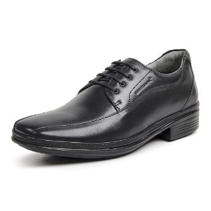 Sapato Masculino De Couro Sapatoterapia 21248 Preto - Super Liquidação