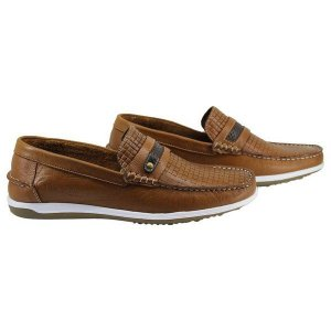 Mocassim Mr. Light Couro Legitimo Latego Whisky