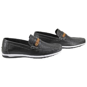 Mocassim Mr. Light Couro Legitimo Latego Preto