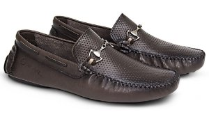 Mocassim Mr. Light Diamante Esfumaçado Café
