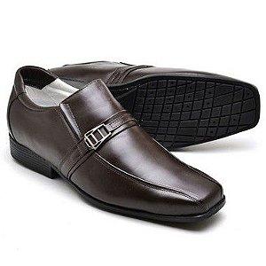 Sapato Social Masculino de Couro Legítimo Café - Ref.05