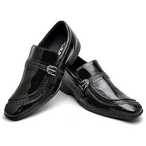 Sapato Social Comfort de Couro Legítimo Preto - Ref.7200